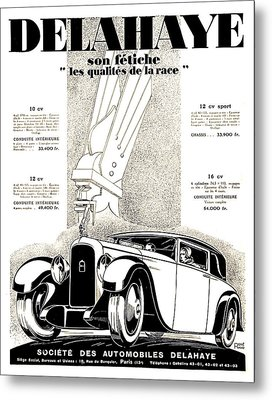 1928 - Delehaye Automobile Advertisement Metal Print