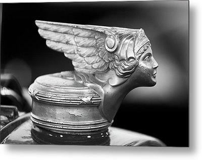 1928 Buick Custom Speedster Hood Ornament 3 Metal Print by Jill Reger