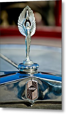 1928 Nash Coupe Hood Ornament 2 Metal Print by Jill Reger