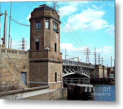 1929 Dix Lift Bridge Metal Print by MJ Olsen