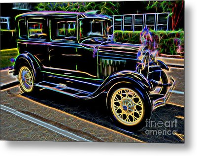 1929 Ford Model A - Antique Car Metal Print