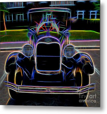 1929 Ford Model A - Vintage Car Metal Print by Gary Whitton