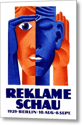 1929 German Advertising Exposition Metal Print by Historic Image