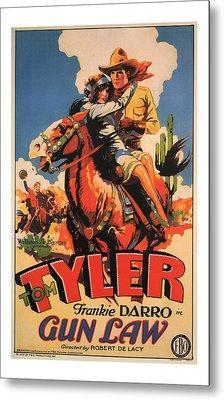 1929 Gun Law Vintage Movie Art Metal Print