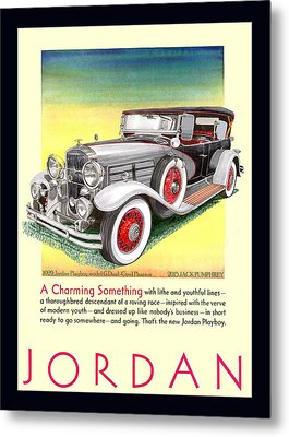 1929 Jordan Model G Vintage Ad Metal Print by Jack Pumphrey