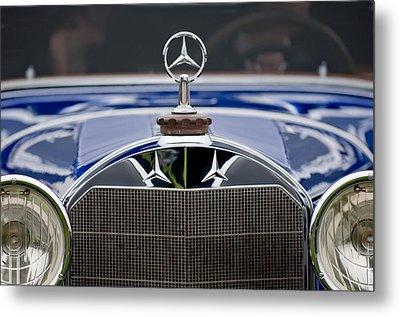 1929 Mercedes Benz S Erdmann And Rossi Cabiolet Hood Ornament Metal Print by Jill Reger