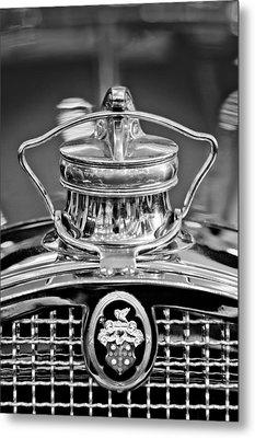 1929 Packard 8 Hood Ornament 4 Metal Print