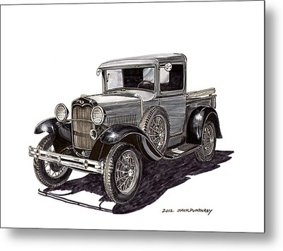 1930 Ford Model A Pick Up Metal Print by Jack Pumphrey