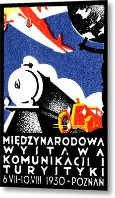 1930 Poznan Poland Expo Poster Metal Print by Historic Image