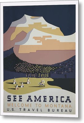 Metal Print featuring the painting 1930 See America by American Classic Art
