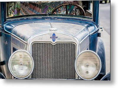 1930's Chevy Headlights Metal Print