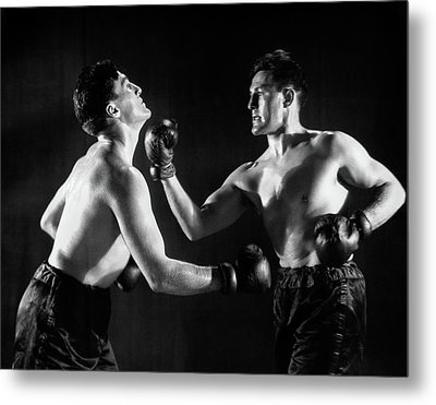 1930s Man In Boxing Match With Himself Metal Print