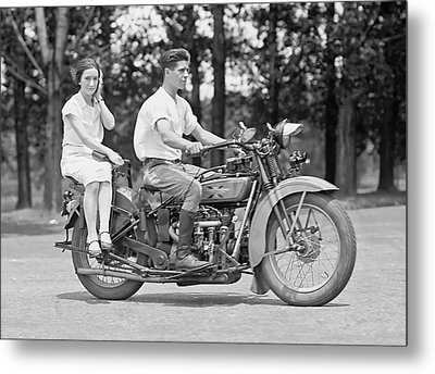 1930s Motorcycle Touring Metal Print