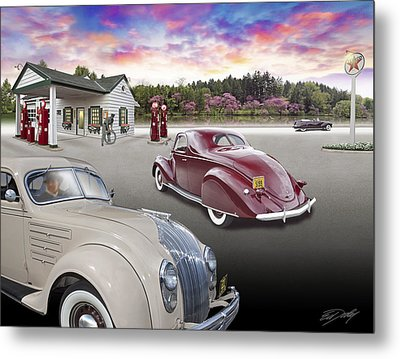 1930s - 40s Texaco Station Metal Print