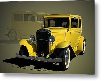 1931 Chevrolet Sedan Hot Rod Metal Print
