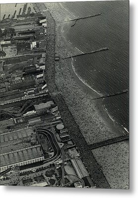 1931 Coney Island Looks Like Fun Metal Print
