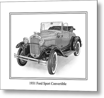 1931 Ford Convertible Metal Print