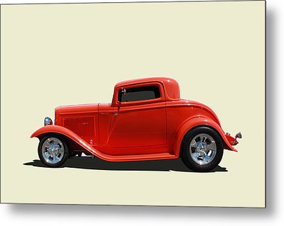 Metal Print featuring the photograph 1932 Ford 3 Window Coupe by Keith Hawley