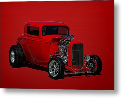 1932 Ford 3 Window Hot Rod Metal Print by Tim McCullough