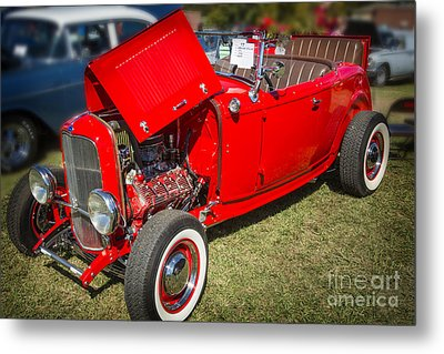 1932 Ford Roadster Classic Automobile Car In Color  3058.02 Metal Print by M K  Miller