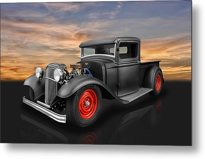 1932 Ford Truck Metal Print by Frank J Benz