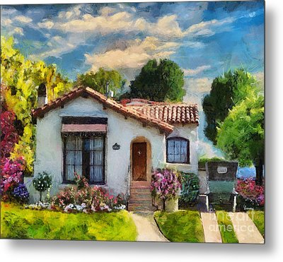 Alameda 1932  Spanish Beauty Metal Print by Linda Weinstock
