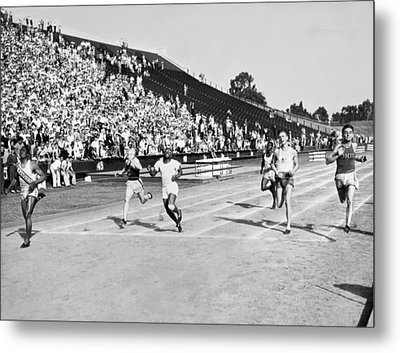 1932 Olympic Track Tryouts Metal Print by Underwood Archives
