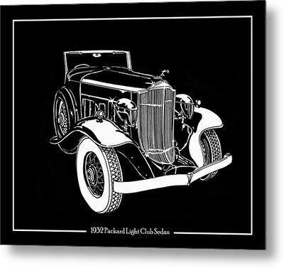 1932 Packard Light Eight Metal Print by Jack Pumphrey