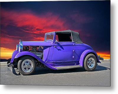 1932 Plymouth Pb Convertible Metal Print by Dave Koontz