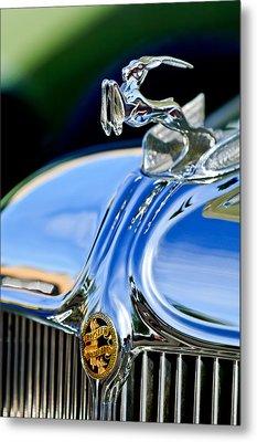 1933 Chrysler Imperial Hood Ornament 3 Metal Print by Jill Reger