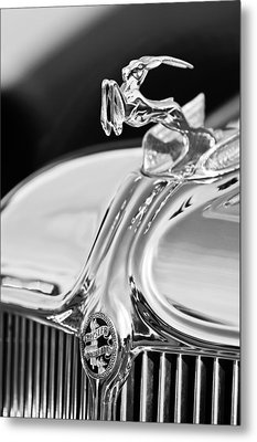 1933 Chrysler Imperial Hood Ornament 4 Metal Print by Jill Reger