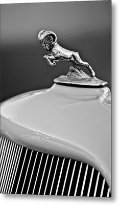 1933 Dodge Ram Hood Ornament 2 Metal Print by Jill Reger
