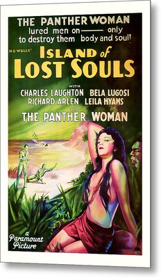 1933 Island Of Lost Souls Vintaage Movie Art Metal Print