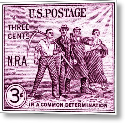 1933 National Recovery Act Stamp Metal Print by Historic Image
