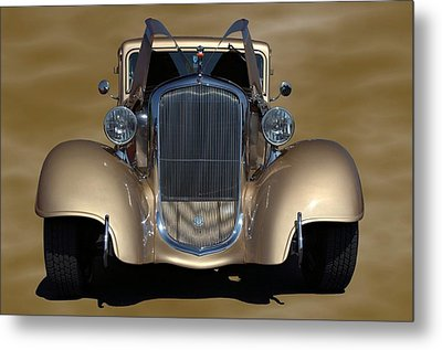 Metal Print featuring the photograph 1933 Plymouth Hot Rod Coupe by Tim McCullough