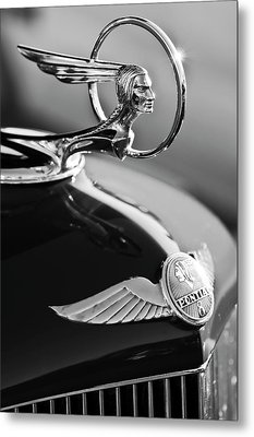 1933 Pontiac Hood Ornament 4 Metal Print by Jill Reger