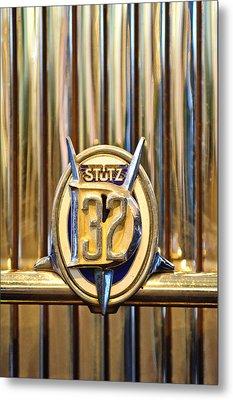 1933 Stutz Dv-32 Five Passenger Sedan Emblem Metal Print by Jill Reger