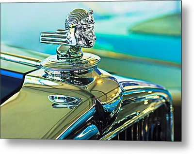 1933 Stutz Dv-32 Hood Ornament Metal Print by Jill Reger