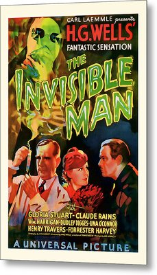 1933 The Invisible Man Vintage Movie Art Metal Print