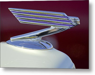 1934 Chevrolet Hood Ornament Metal Print by Jill Reger