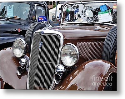 1934 Ford 6 Wheel Equip Front End Metal Print by Kaye Menner