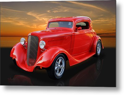 1934 Ford Coupe Custom Hot Rod Metal Print by Frank J Benz
