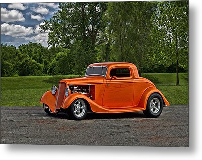Metal Print featuring the photograph 1934 Ford Coupe by Tim McCullough