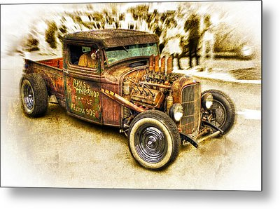 1934 Ford Rusty Rod Metal Print by motography aka Phil Clark
