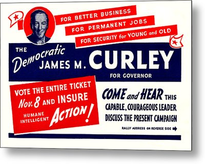 1934 James Michael Curley Metal Print by Historic Image
