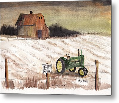 1934 John Deere Model A For Sale Metal Print