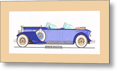 1934 Packard Sportif Boattail Concept By Dietrich Metal Print by Jack Pumphrey