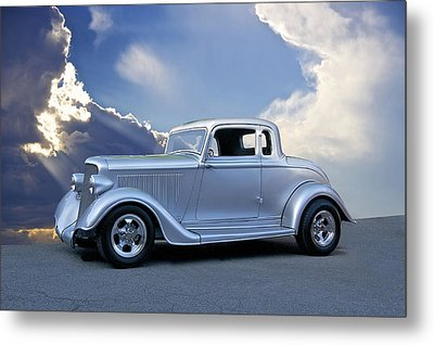 1934 Plymouth Coupe Metal Print by Dave Koontz