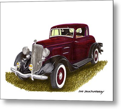 1934 Plymouth P E Coupe Metal Print by Jack Pumphrey
