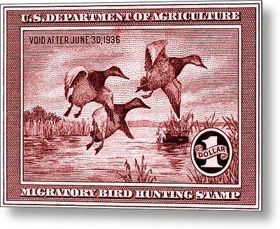 1935 American Bird Hunting Stamp Metal Print
